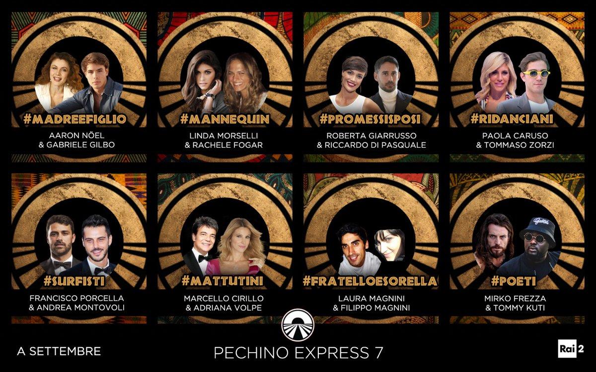 cast di Pechino Express 7