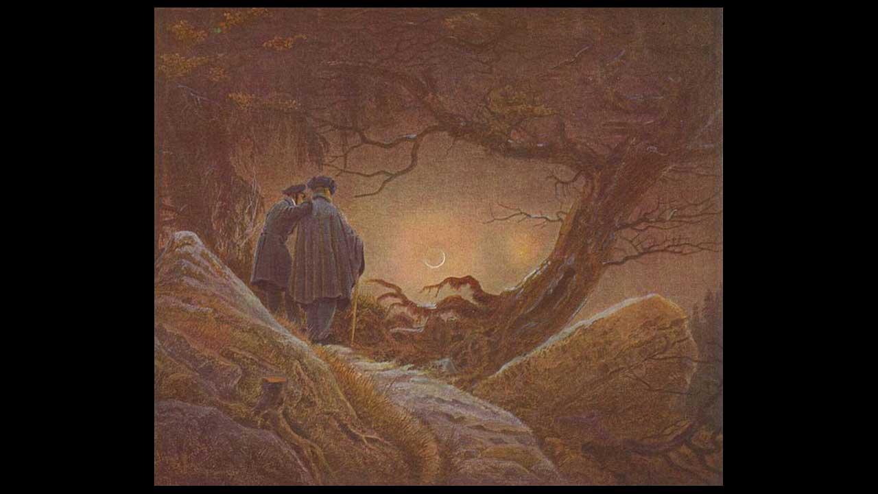 Caspar David Friedrich - Due amici e la luna