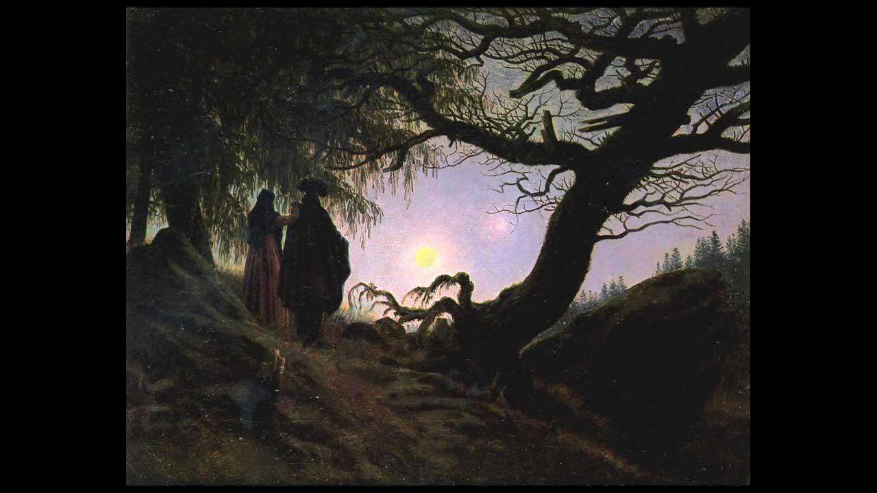 Caspar David Friedrich - Uomo e donna in contemplazione della Luna