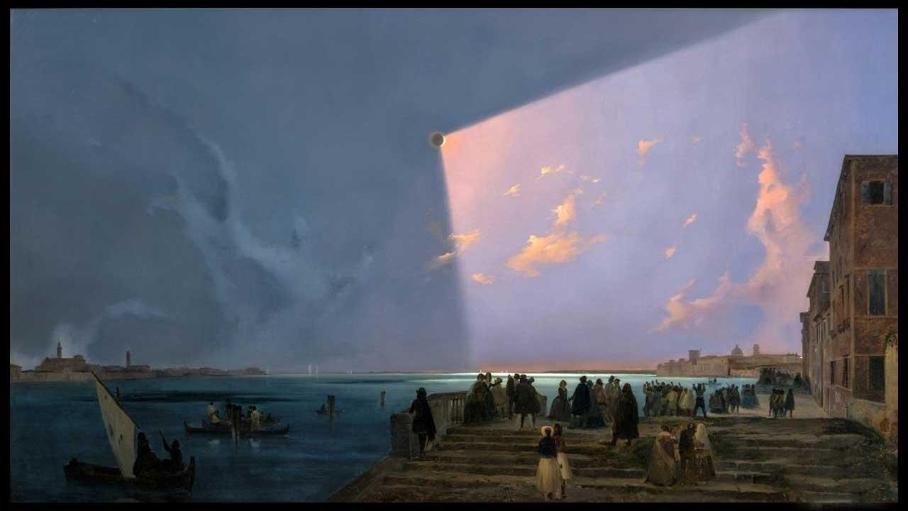 Ippolito Caffi  - Eclissi a Venezia