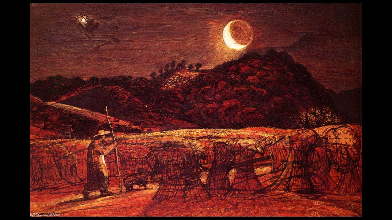 Samuel Palmer Cornfield – Al chiaro di luna