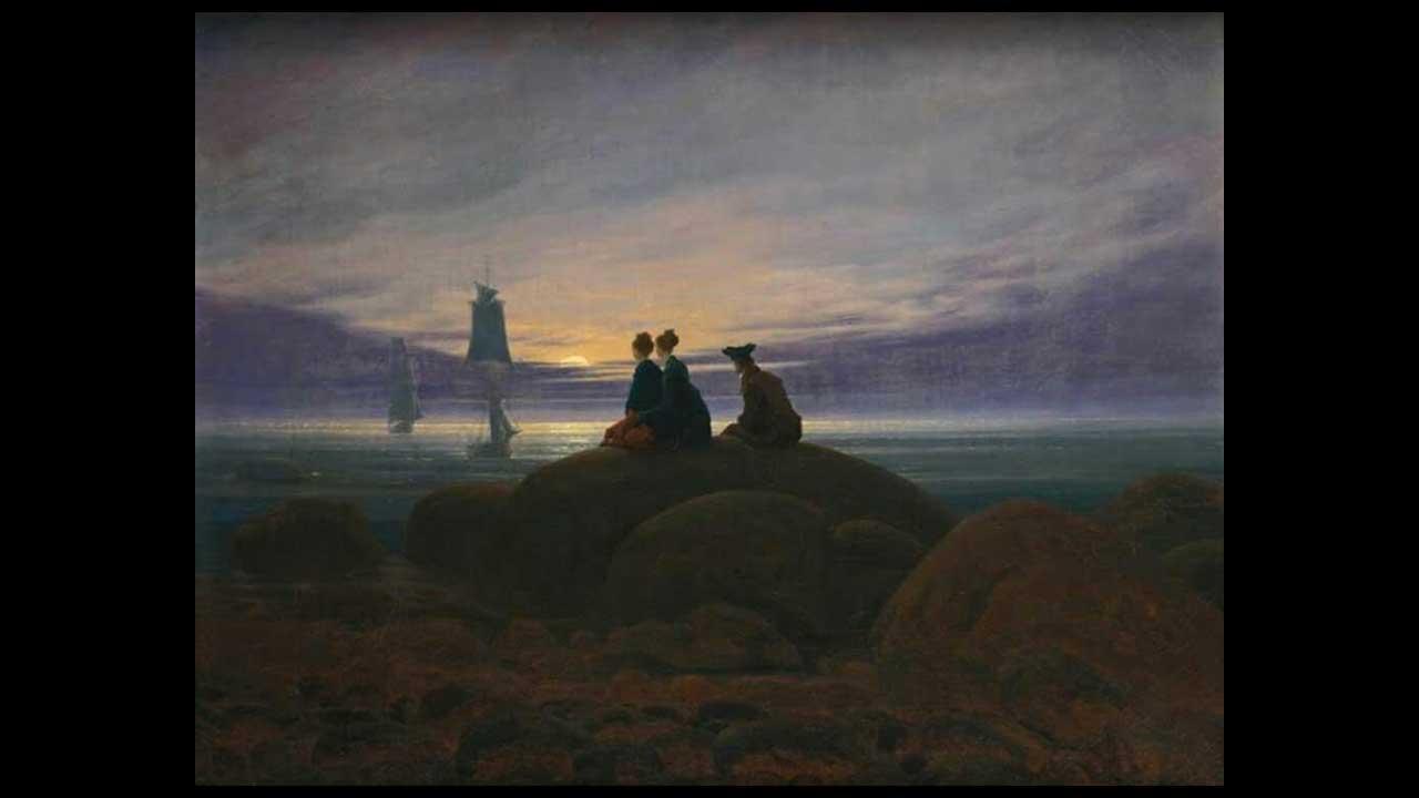 Caspar David Friedrich - Sorgere della luna al mare