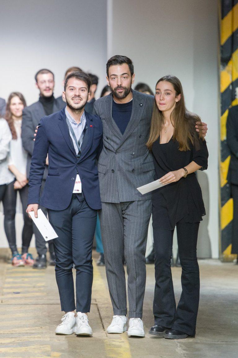 Luca Rizzi Direttore Pitti Tutorship, Luca Rao e Alice Paris, vincitori Talents 2019 - credits by P&P Fotografia