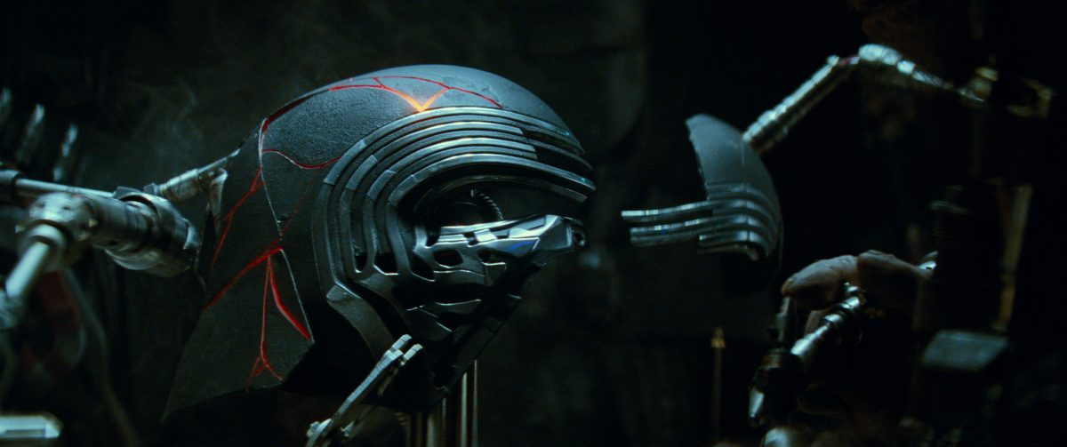 Kylo Ren's restored helmet in STAR WARS: EPISODE IX.
