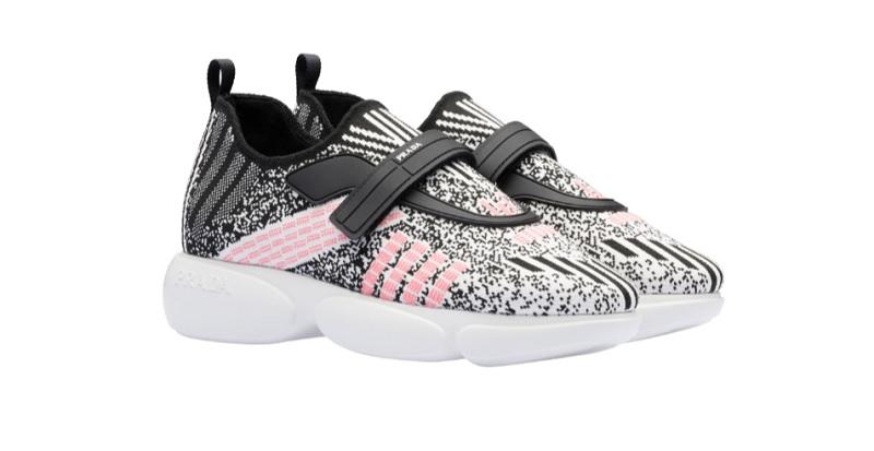 Sneakers Cloudbust in tessuto knit metal (620 euro)
