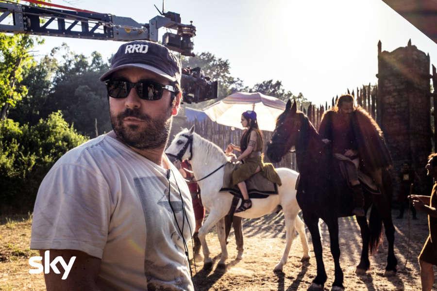 Il regista Matteo Rovere sul set (photocredits: Francesca Fago)