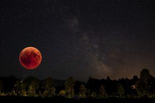 luna rossa, eclissi di luna, eclissi lunare