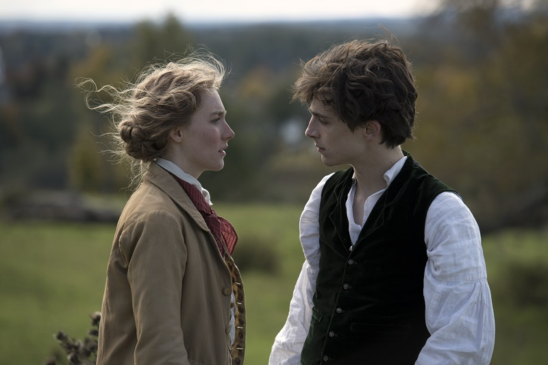 Saoirse Ronan and TimothŽe Chalamet in Columbia PicturesÕ LITTLE WOMEN.