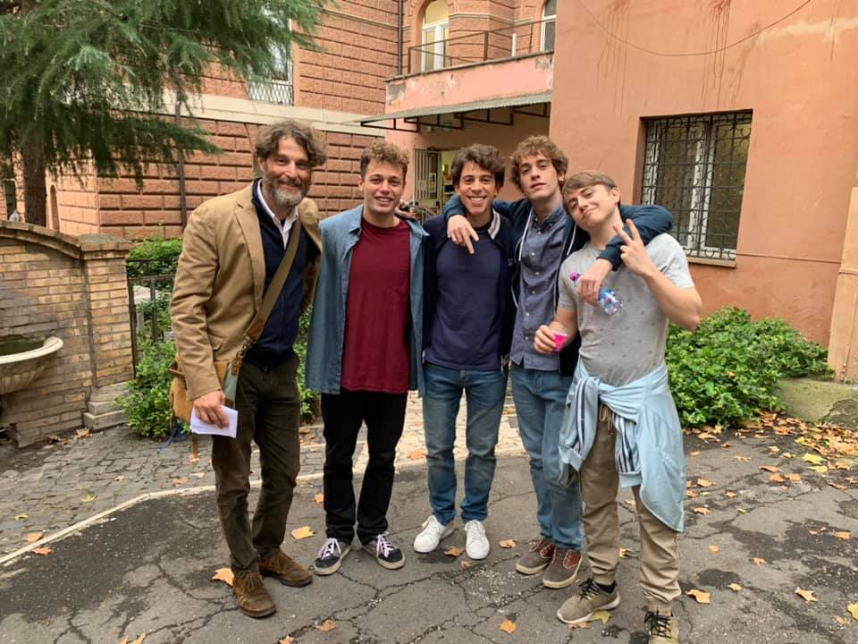 (da sinistra: Massimo Reale, Ludovico Tersigni, Francesco Centorame, Federico Cesari e Nicolas Zerbini)
