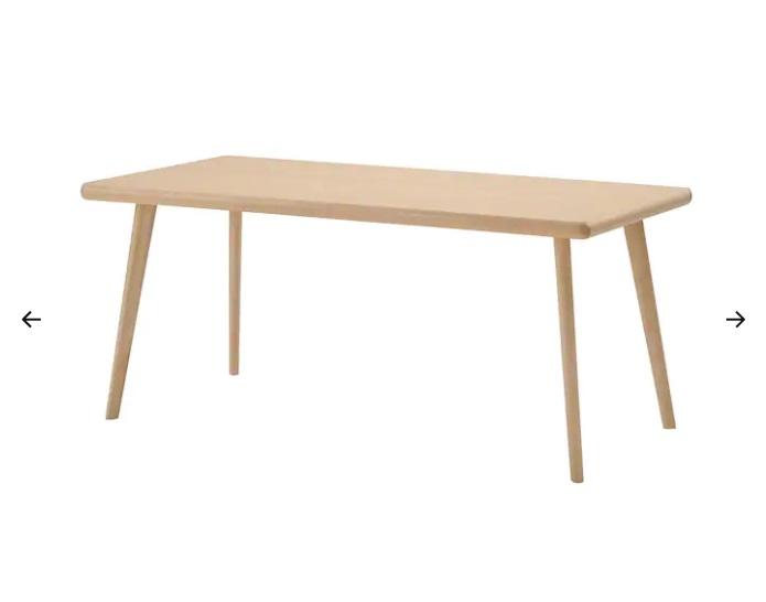 Tavolo, faggio, betulla, 170x75 cm (269 euro)