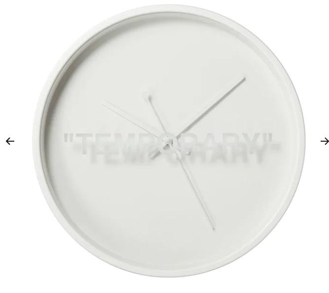 Orologio da parete, bianco, 42 cm (25 euro)