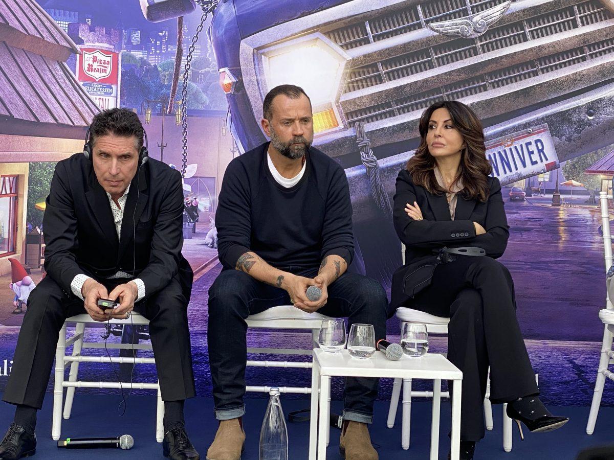 (da sinistra) Raul Cremona, Fabio Volo e Sabrina Ferilli
