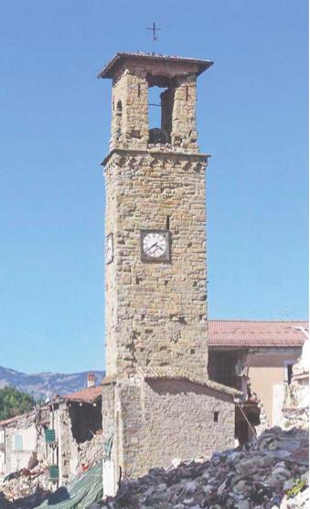 Torre civica dopo il terremoto