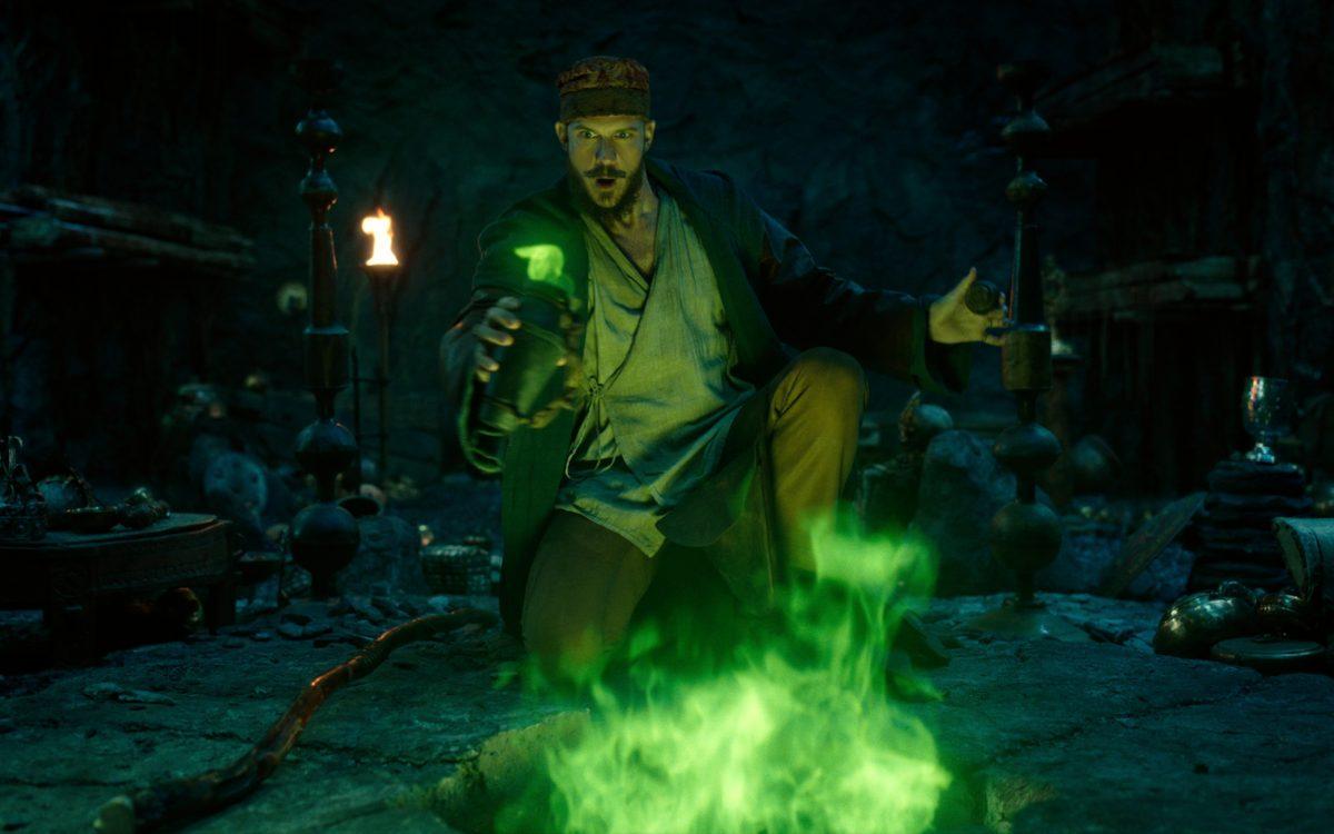 CURSED (L TO R) GUSTAF SKARSGÅRD as MERLIN in episode 104 of CURSED Cr. Netflix © 2020