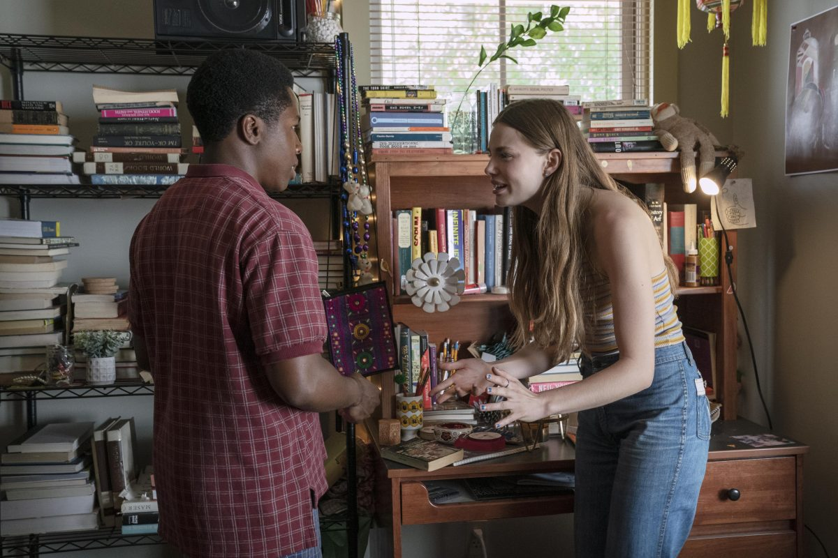 "Looking For Alaska - ""Famous Last Words"" - Episode 101 – Miles Halter, seeking a more than minor life, enrolls at Culver Creek Academy.  On his first day, he gets a new nickname, a best friend, some enemies and makes a deal with Alaska Young that will change his life forever. The Colonel (Denny Love) and Alaska (Kristine Froseth), shown. (Photo by: Alfonso Bresciani/Hulu)"