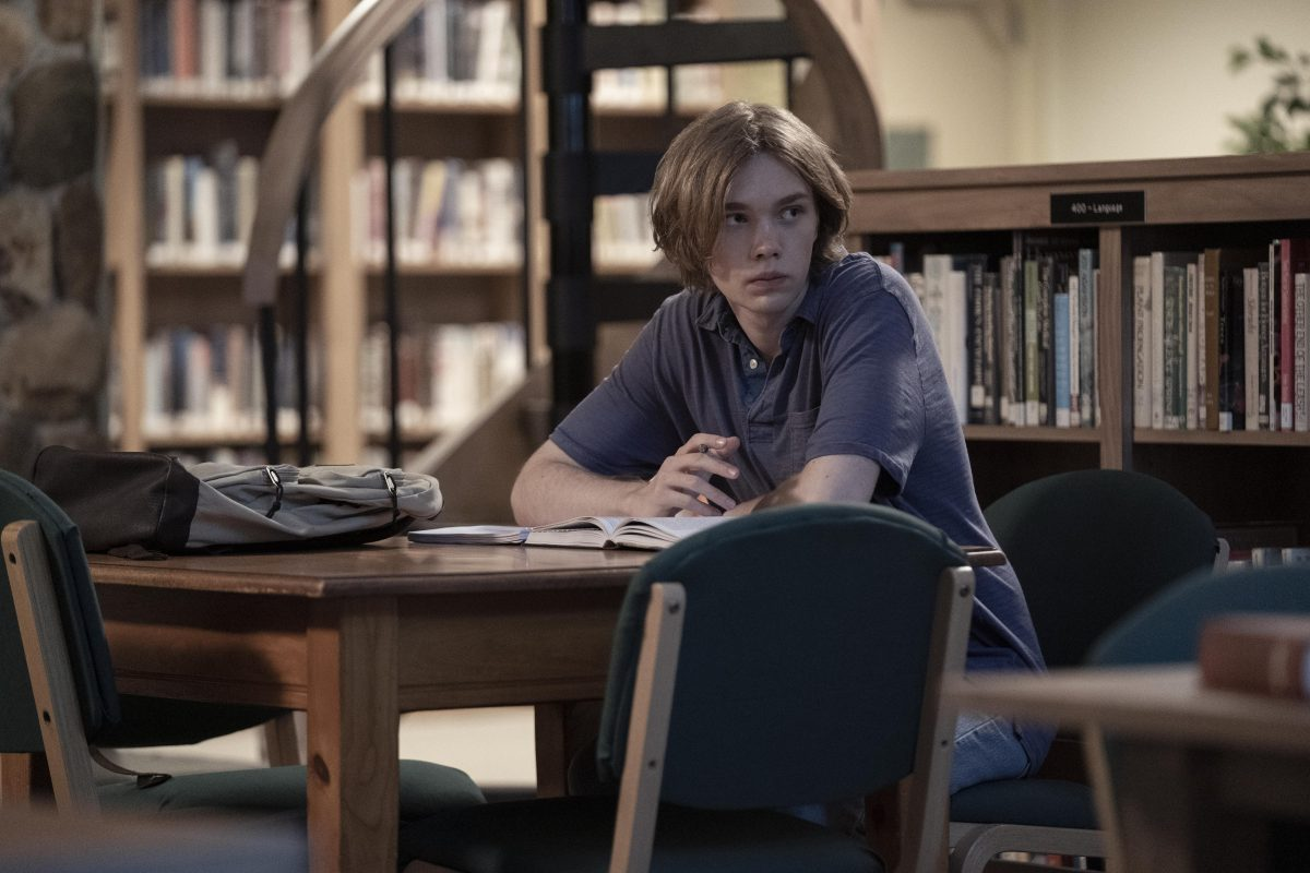 """Looking For Alaska - """"Famous Last Words"""" - Episode 101 -- Miles Halter, seeking a more than minor life, enrolls at Culver Creek Academy.  On his first day, he gets a new nickname, a best friend, some enemies and makes a deal with Alaska Young that will change his life forever. Miles (Charlie Plummer), shown. (Photo by: Alfonso Bresciani/Hulu)"""