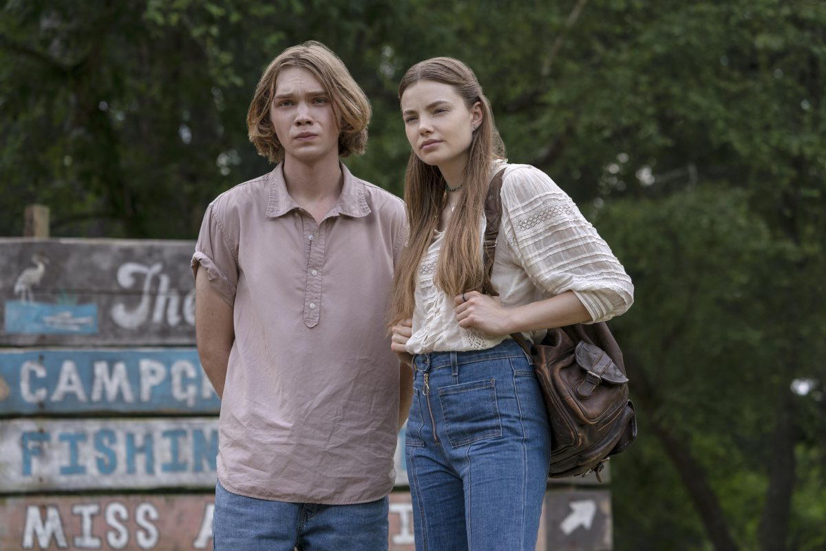 """Looking For Alaska -- Episode 104 -- Looking For Alaska is an 8-episode limited series based on the John Green novel of the same name. It centers around teenager Miles """"Pudge"""" Halter (Charlie Plummer), as he enrolls in boarding school to try to gain a deeper perspective on life. He falls in love with Alaska Young (Kristine Froseth), and finds a group of loyal friends. But after an unexpected tragedy, Miles and his close friends attempt to make sense of what they've been through. Miles (Charlie Plummer) and Alaska (Kristine Froseth), shown. (Photo by: Alfonso Bresciani/Hulu)"""