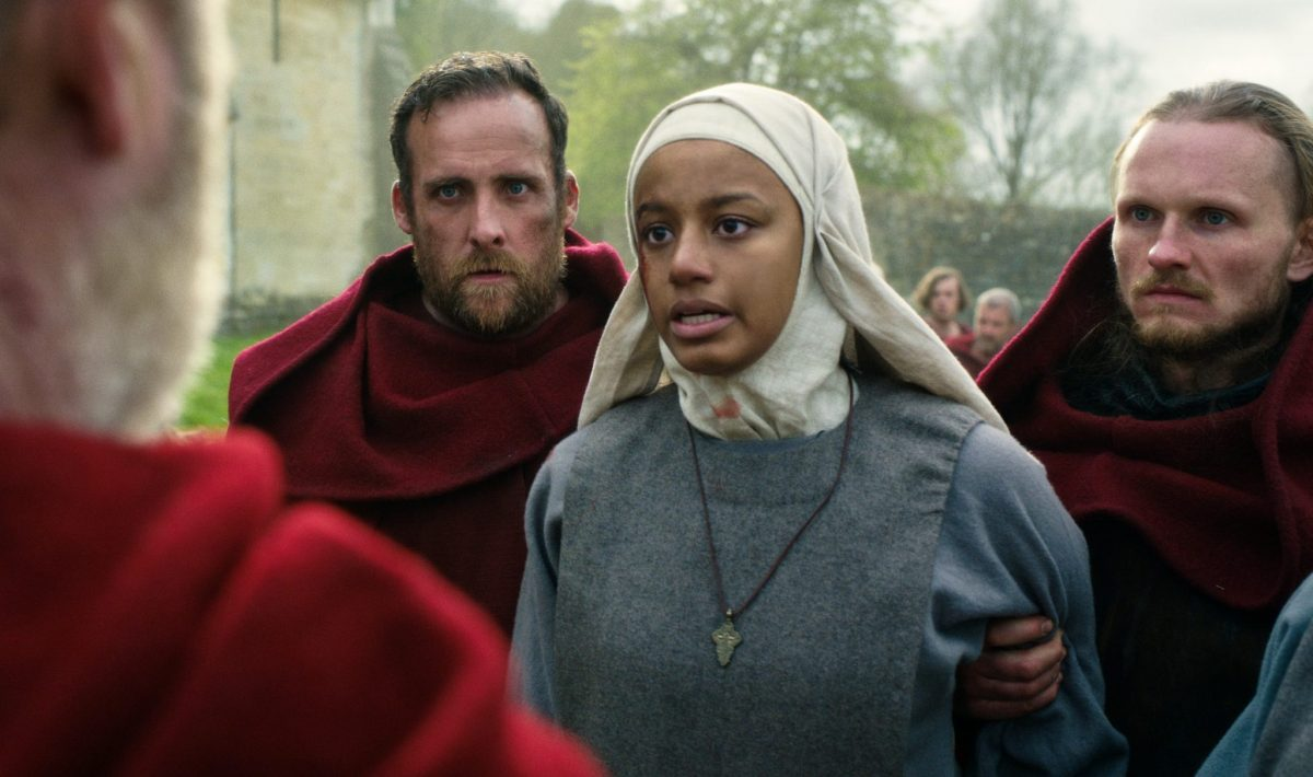 CURSED (L to R) SHALOM BRUNE-FRANKLIN as SISTER IGRAINE in episode 104 of CURSED Cr. COURTESY OF NETFLIX © 2020
