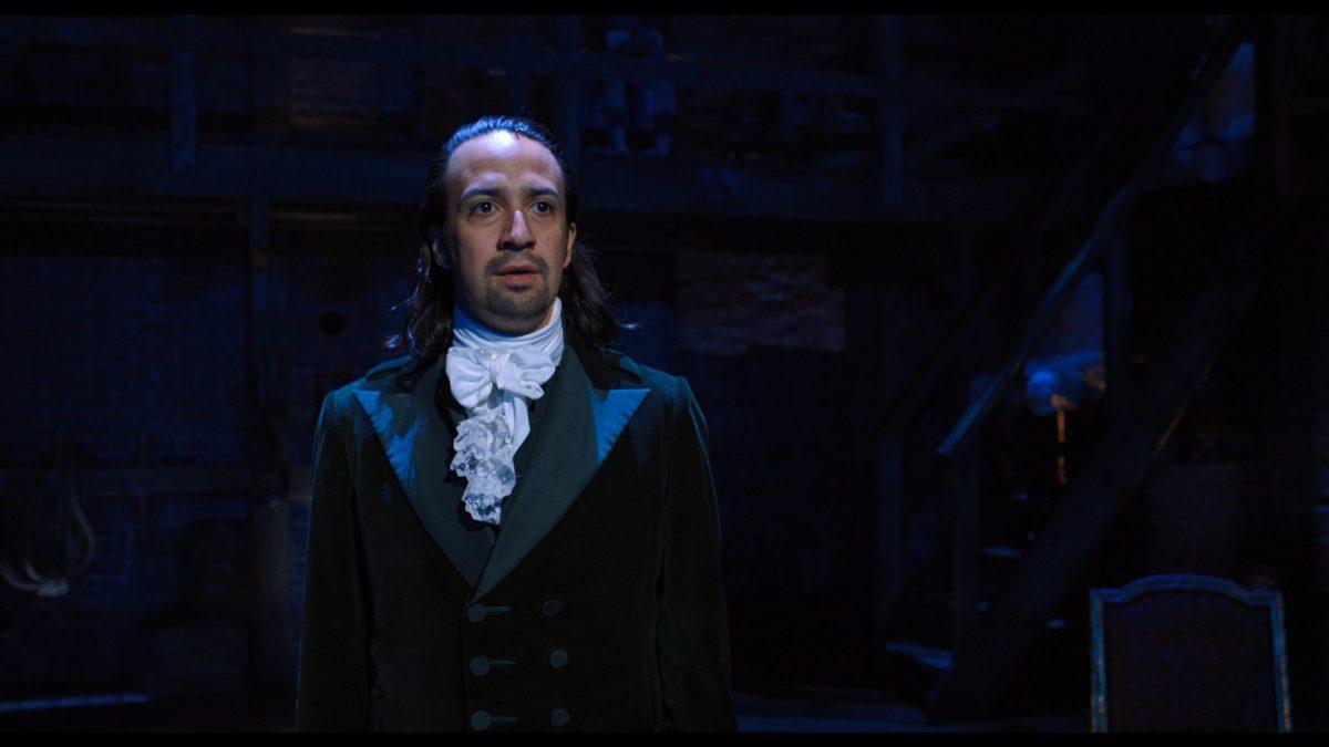 Lin-Manuel Miranda is Alexander Hamilton in HAMILTON, the filmed version of the original Broadway production.