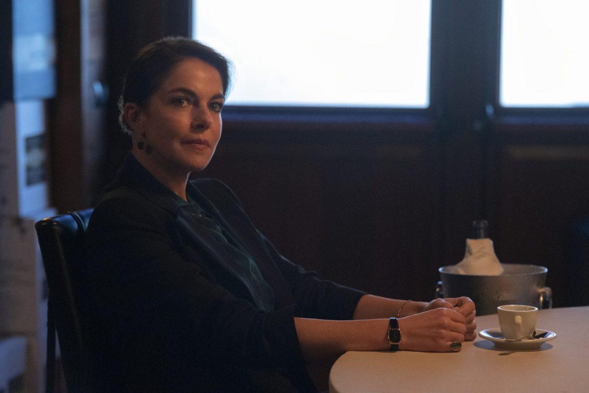 SUBURRA (L to R) CLAUDIA GERINI as SARA MONASCHI in episode 301 of SUBURRA Cr. EMANUELA SCARPA/NETFLIX © 2020