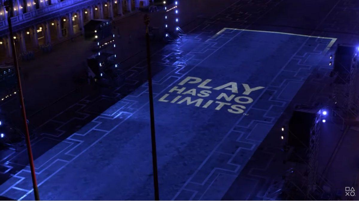 Sony illumina piazza San Marco per il lancio di PlayStation 5