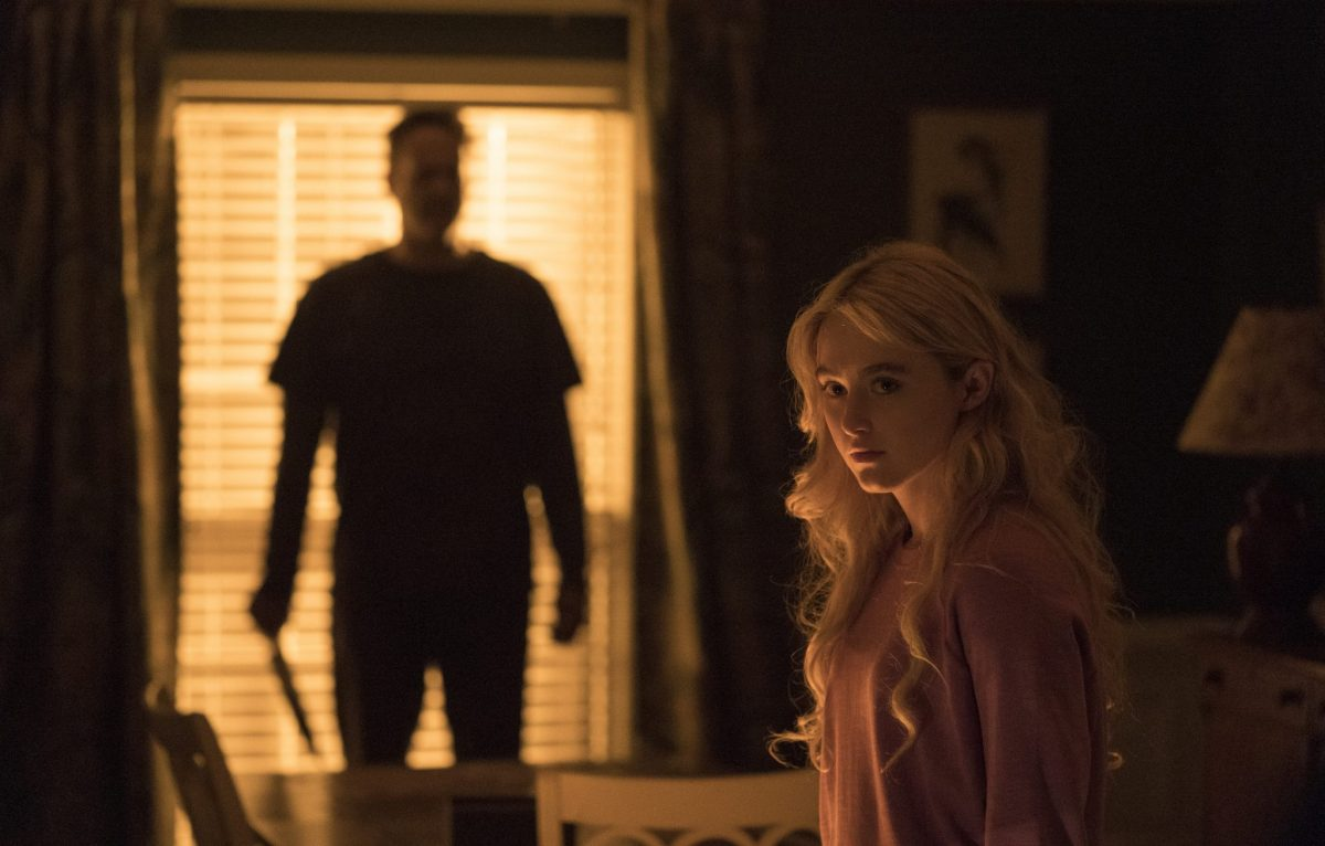 (from left) The Butcher (Vince Vaughn) and Millie Kessler (Kathryn Newton) in Freaky, co-written and directed by Christopher Landon.