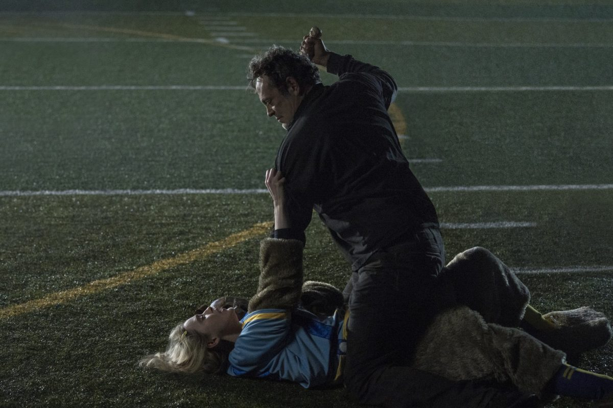 (from left) Millie Kessler (Kathryn Newton) and The Butcher (Vince Vaughn) in Freaky, co-written and directed by Christopher Landon.