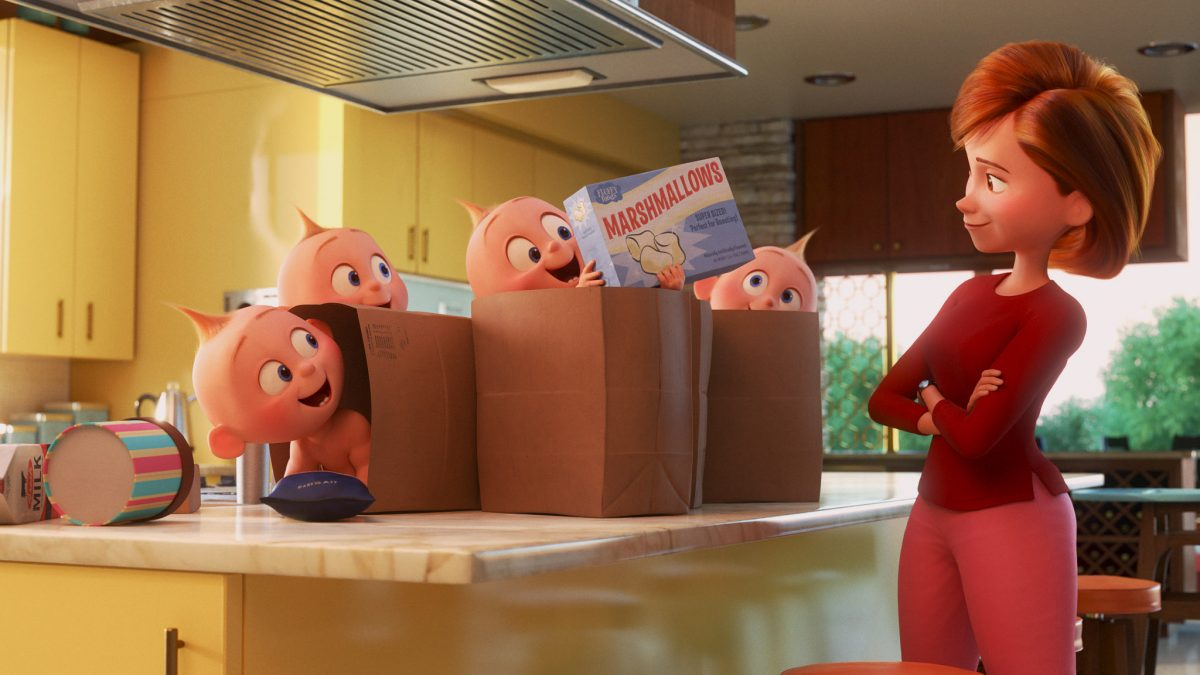 "Debuting exclusively on Disney+ on Jan. 22, 2021, Pixar Animation Studios' ""Pixar Popcorn"" is a collection of mini shorts featuring Pixar characters in all-new, bite-size stories, including ""Chore Day—The Incredible Way,"" featuring favorites from ""The Incredibles."" © 2021 Disney/Pixar. All Rights Reserved."