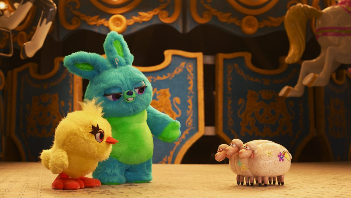 "Debuting exclusively on Disney+ on Jan. 22, 2021, Pixar Animation Studios' ""Pixar Popcorn"" is a collection of mini shorts featuring Pixar characters in all-new, bite-size stories, including ""Fluffy Stuff with Ducky and Bunny: Three Heads,"" featuring favorites from ""Toy Story 4."" © 2021 Disney/Pixar. All Rights Reserved."