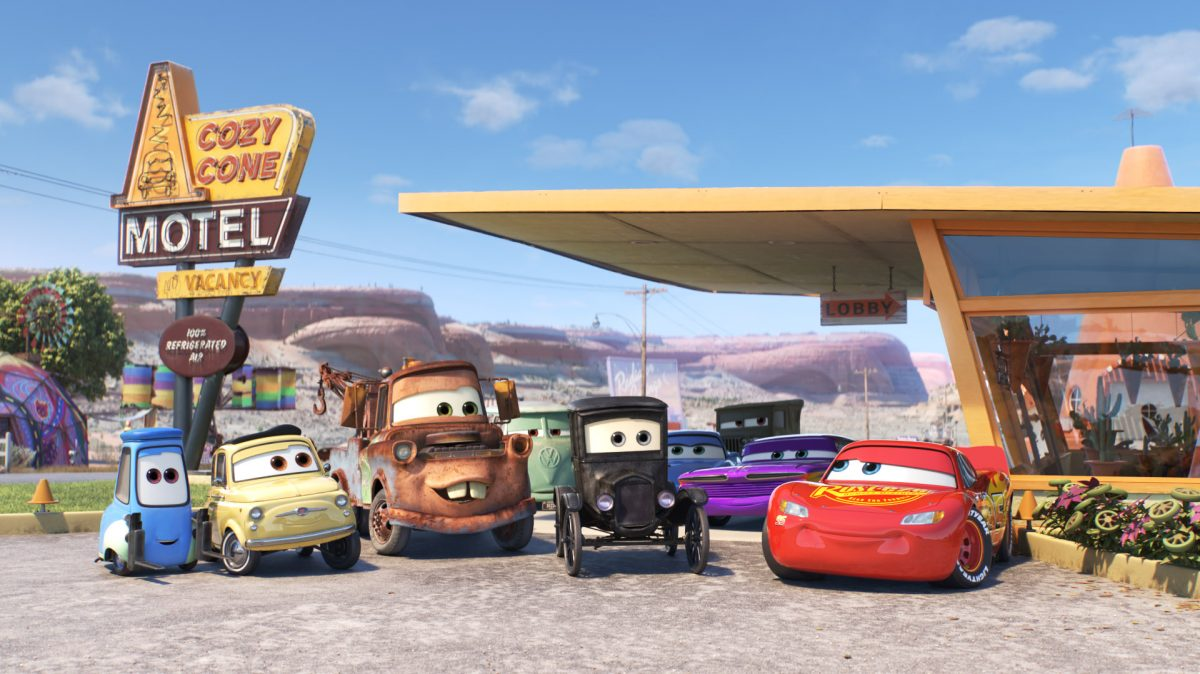 "Debuting exclusively on Disney+ on Jan. 22, 2021, Pixar Animation Studios' ""Pixar Popcorn"" is a collection of mini shorts featuring Pixar characters in all-new, bite-size stories, including ""Unparalleled Parking,"" featuring favorites from ""Cars."" © 2021 Disney/Pixar. All Rights Reserved."