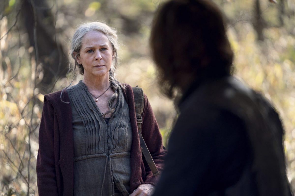 Norman Reedus as Daryl Dixon, Melissa McBride as Carol Peletier; group - The Walking Dead _ Season 10, Episode 18 - Photo Credit: Eli Ade/AMC