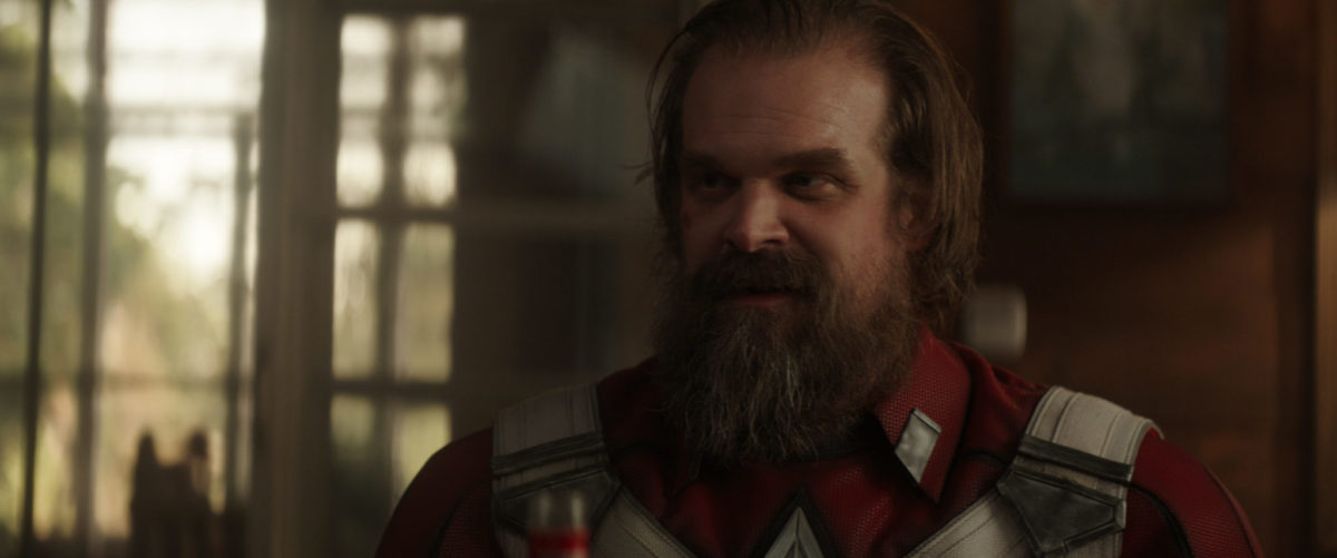 Alexei (David Harbour) in Marvel Studios' BLACK WIDOW, in theaters and on Disney+ with Premier Access. Photo courtesy of Marvel Studios. ©Marvel Studios 2021. All Rights Reserved.