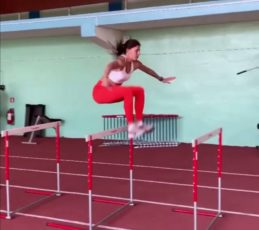 Maryna Bekh-Romanchuk allenamento