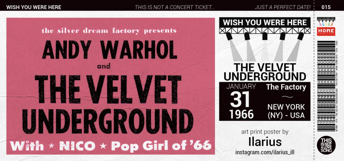 The Velvet Underground ticket wish you were here