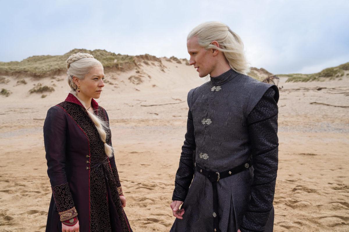 Rhaenyra Targaryen, primogenita del re Viserys e il principe Daemon Targaryen