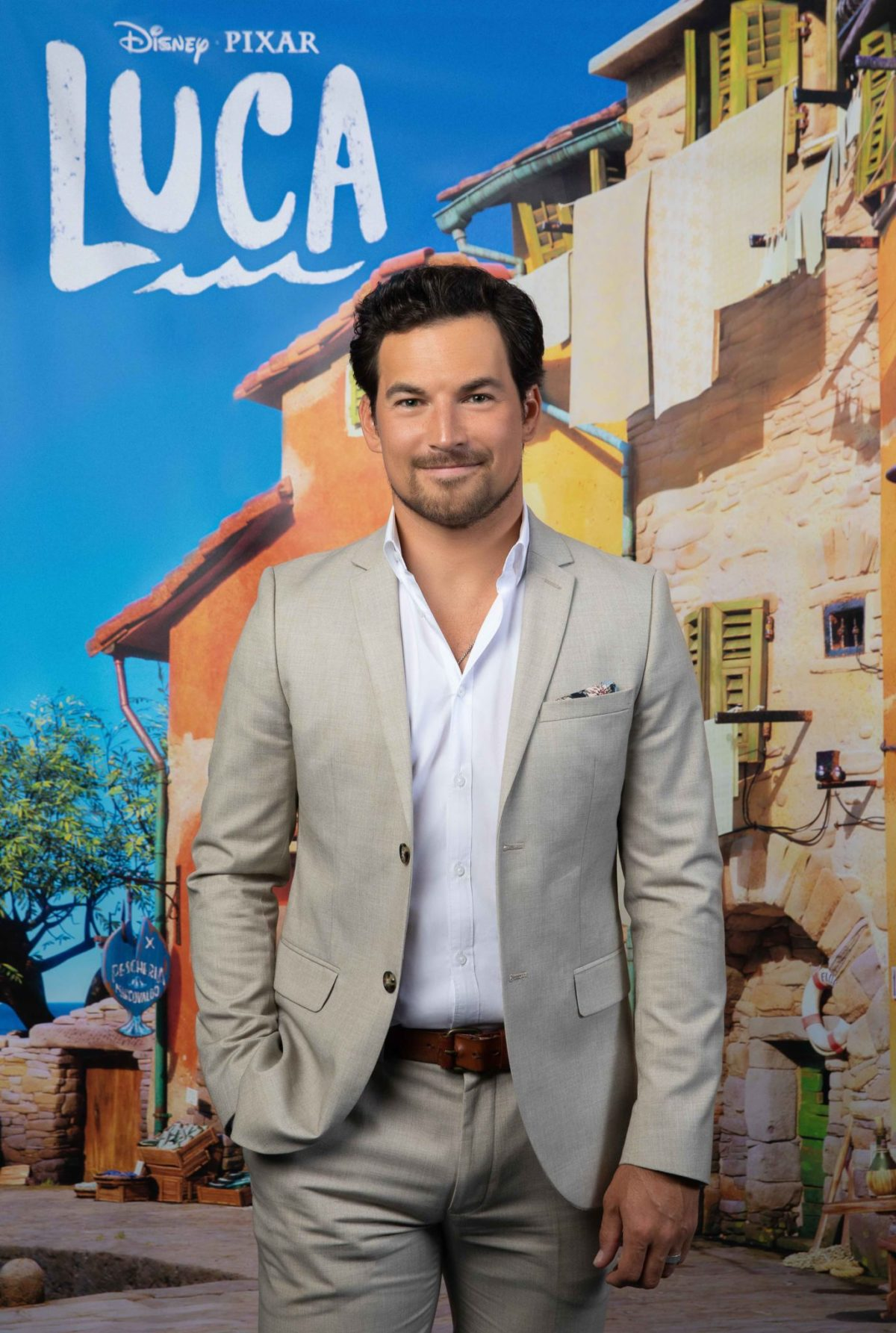 LUCA - (Pictured) Giacomo Gianniotti. Photo by Mark Von Holden/Disney. © 2021 Disney/Pixar. All Rights Reserved.
