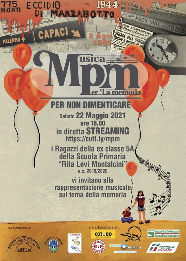Musica per Memoria evento 22 maggio ore 18 streaming
