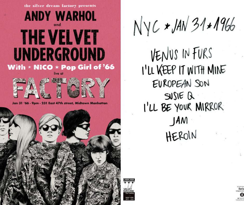 Poster The Velvet Underground Wish You Were Here fronte e retro
