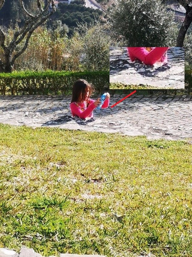 illusione ottica bambina