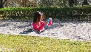 illusione ottica della bambina