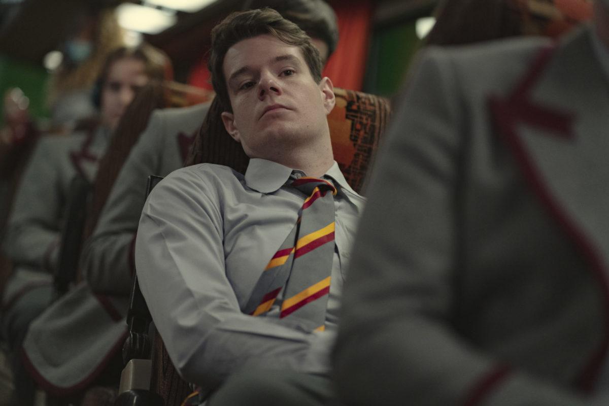 Sex Education Season 3.  Connor Swindells as Adam Groff in Episode 5 of Sex Education Season 3. Cr. Sam Taylor/NETFLIX © 2020
