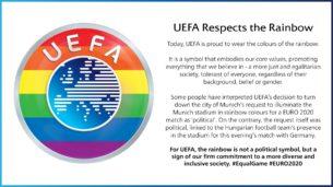 logo uefa arcobaleno