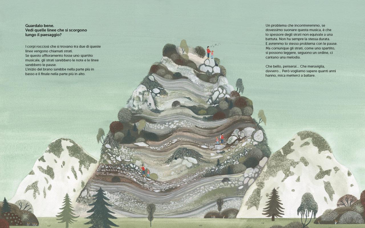 Pagina di un milione di ostriche in cima alla montagna