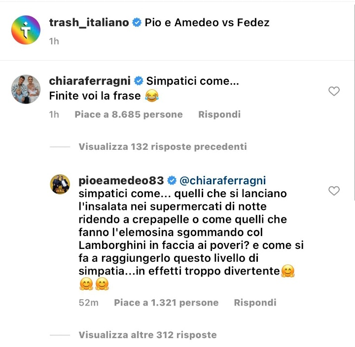 Chiara Ferragni difende Fedez contro Pio e Amedeo scoppia la polemica