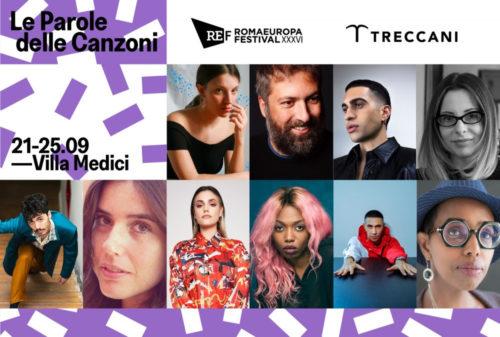 Le parole delle canzoni Romaeuropa Festival 2021