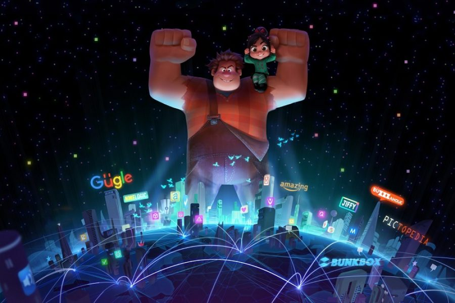 WRECKING THE INTERNET — Wreck-It Ralph is heading back to the big screen—this time he's wrecking the internet. John C. Reilly returns as the voice of the bad-guy-turned-good, Ralph, and Sarah Silverman once again lends her voice to the girl with the game-winning glitch, Vanellope von Schweetz. Directed by Rich Moore and Phil Johnston, and produced by Clark Spencer, the untitled sequel hits theaters on March 9, 2018. ©2016 Disney. All Rights Reserved.