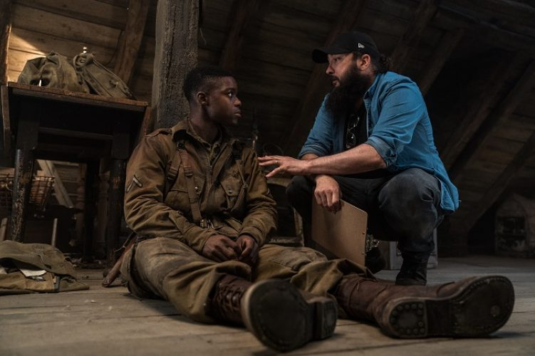 (L-R) Jovan Adepo, Director Julius Avery on the set, OVERLORD by Paramount Pictures