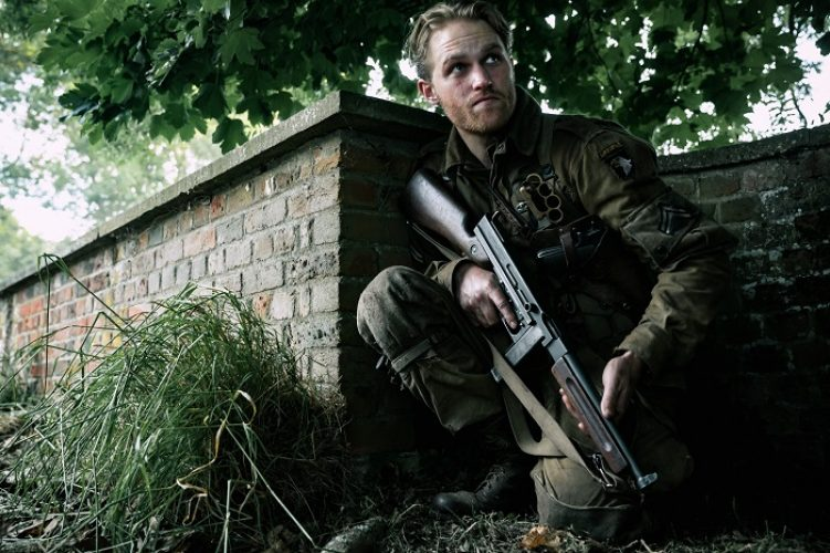 Wyatt Russell as Ford in the film, OVERLORD by Paramount Pictures