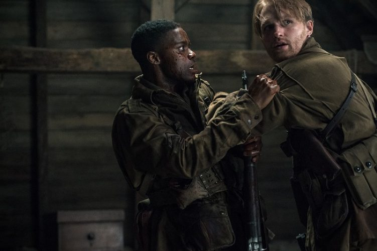 (L-R) Jovan Adepo as Boyce, Wyatt Russell as Ford in the film, OVERLORD by Paramount Pictures