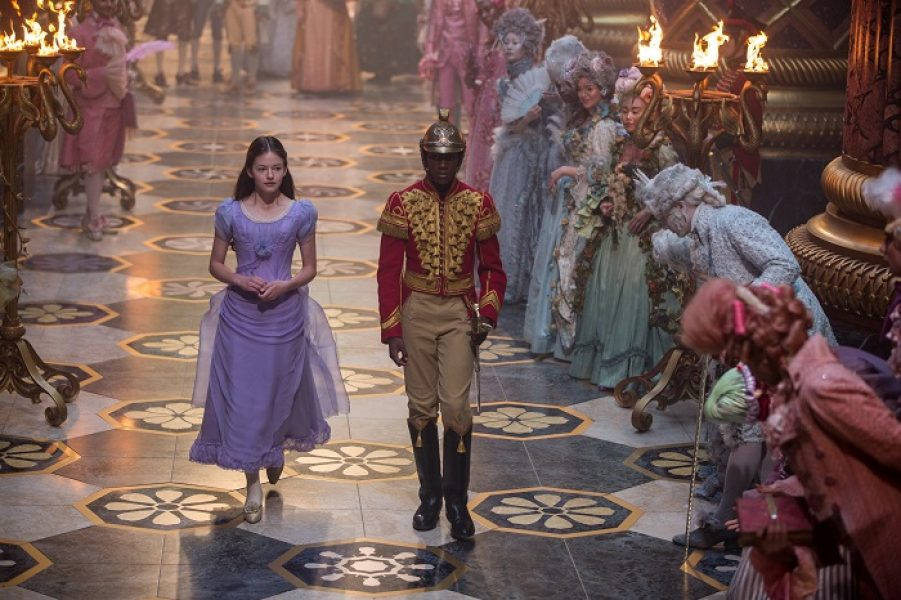 Mackenzie Foy is Clara and Jayden Fowara Knight is Phillip in Disney's THE NUTCRACKER AND THE FOUR REALMS.